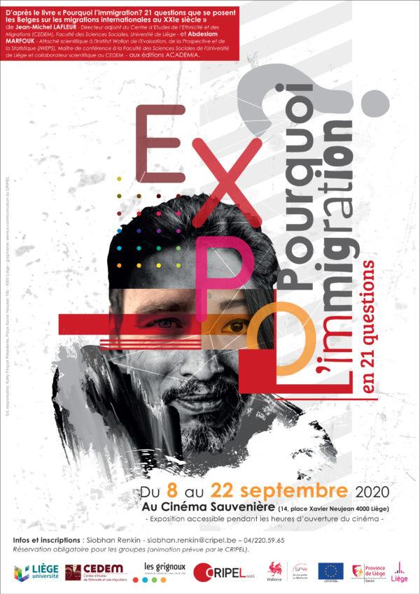 """EXPOSITION """"Pourquoi l'immigration ? en 21 questions"""" - du 8 au 22 septembre"""