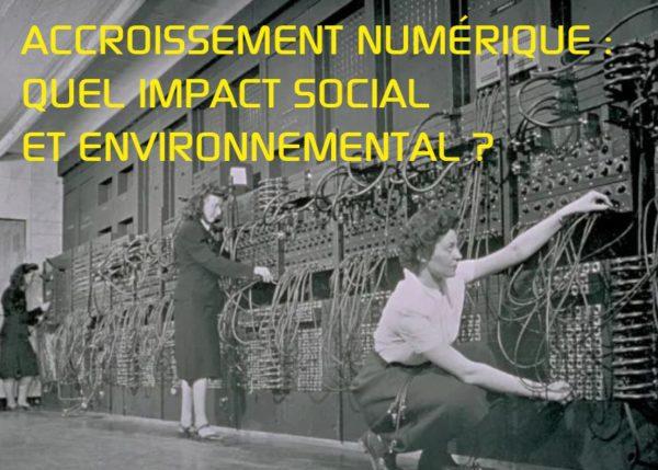 Accroissement numérique : quel impact social et environnemental ? Rencontre avec Yoann Jungling - Le 17 novembre (13h30 - 15h30)
