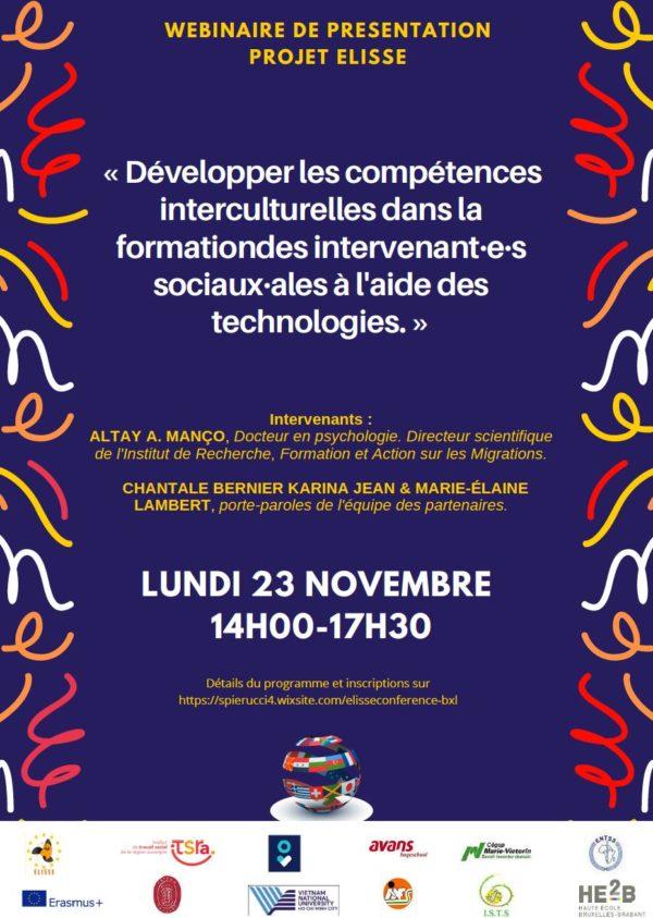 Présentation du Projet ELISSE - Le 23 novembre (14h-17h30)