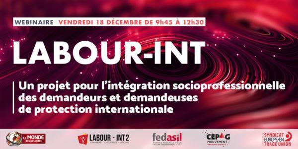 Webinaire dédié à la thématique de l'intégration socioprofessionnelle des demandeurs-euses de protection internationale - le 18 décembre (9h30)